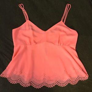 Adorable neon pink/orange top